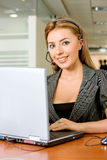 Helpdesk woman Stock Images