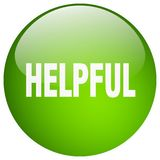 Helpful button. Helpful round button isolated on white background. helpful vector illustration