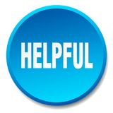 Helpful button. Helpful round button isolated on white background. helpful royalty free illustration