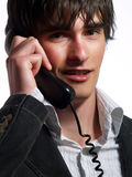 Helpful customer service representative guy Stock Photos