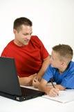 Helpful Father Stock Photo