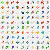 100 helpful icons set, isometric 3d style. 100 helpful icons set in isometric 3d style for any design vector illustration Royalty Free Stock Image