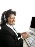 Helpful Indian Tech Support Stock Photography