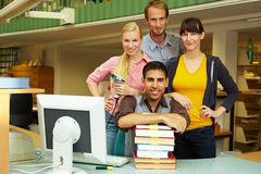 Helpful library staff Stock Images