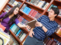 Helpful man at the library Stock Photography