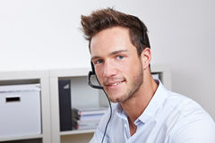 Helpful phone support agent Stock Photos