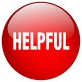 Helpful button. Helpful round button isolated on white background. helpful stock illustration
