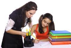 Helpful teacher Stock Photo