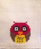 Helpful tip cross stitch owl background Stock Image