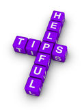 Helpful tips. Symbol cubes crossword puzzle royalty free illustration