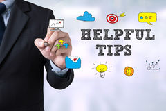 HELPFUL TIPS CONCEPT Royalty Free Stock Photos