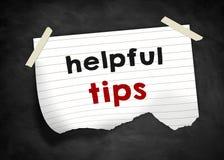 Helpful tips Stock Photography