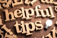 Helpful Tips Idea stock images