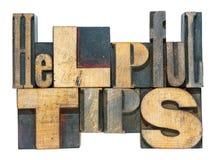 Helpful tips isol Stock Photos
