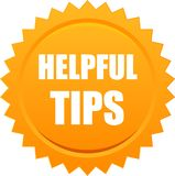 Helpful tips seal Royalty Free Stock Photo