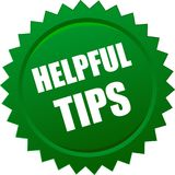Helpful tips seal Royalty Free Stock Image