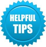 Helpful tips seal Stock Photos