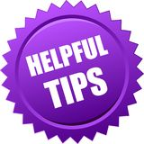 Helpful tips seal Royalty Free Stock Photos