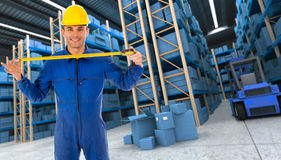 Helpful Warehouse worker Royalty Free Stock Photography