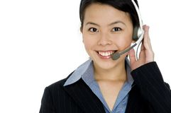 Helpful Young Woman Stock Photo