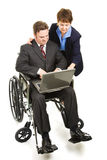 Helping Disabled Businessman Royalty Free Stock Photography