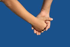 Helping each other. Holding hands Royalty Free Stock Photography