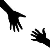 Helping hand. Silhouette baby helping hand.vector illustration Stock Images