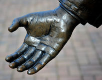 Helping hand. Helping hand extended to a person in need Royalty Free Stock Photo