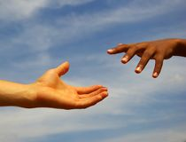 Helping hand Royalty Free Stock Photo