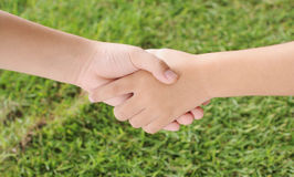 A helping hand Stock Image