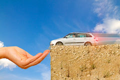 Helping hand. Abstract photo, concept car insurance Stock Photography