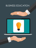 Helping Hand. Business Education Concept. Trends and innovation vector illustration