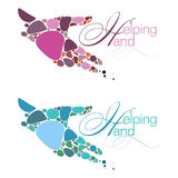 Helping Hand Emblems Stock Images