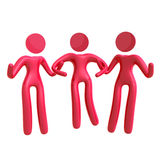 Helping hand between females 3d icon Stock Photography