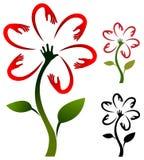 Helping hand flower Stock Photos