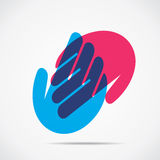 Helping hand icon. Stock Stock Image