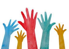 Helping hand painting Stock Photography