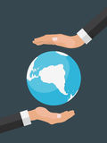 Helping Hand in Personal development. Success. Personal and care royalty free illustration