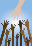 Helping hand Royalty Free Stock Image