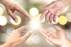 Helping hand symbol. Royalty Free Stock Images