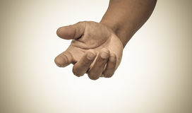 Helping hand tone vintage. Helping hand a tone vintage royalty free stock photo