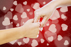Helping hand on Valentines day Stock Images