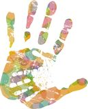 Helping hand, vector illustration Royalty Free Stock Image