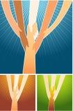 Helping Hands vector illustration