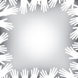 Helping hands background. A helping hands background in black and white Stock Photos
