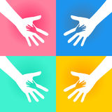 Helping Hands Charity. Illustration of Helping Hand of Charity. Very Useful for Charity Theme Royalty Free Stock Photo