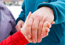 The helping hands Royalty Free Stock Photo