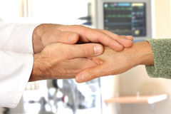 Helping hands in hospital Stock Photography