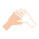 Helping hands human icon Stock Photography