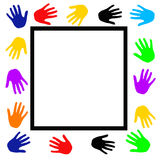 Helping hands poster stock illustration